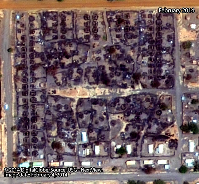 After: Neighborhood close to the center of Malakal town