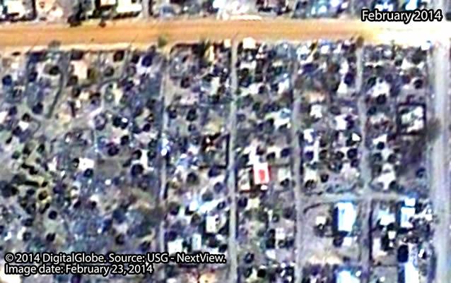 After: Neighborhood southeast of Malakal town, South Sudan