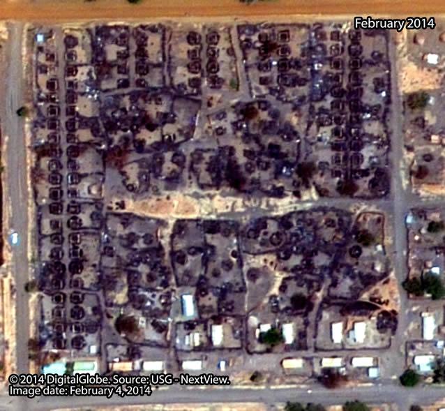 After: Nachbarschaft nahe des Zentrums der Stadt Malakal