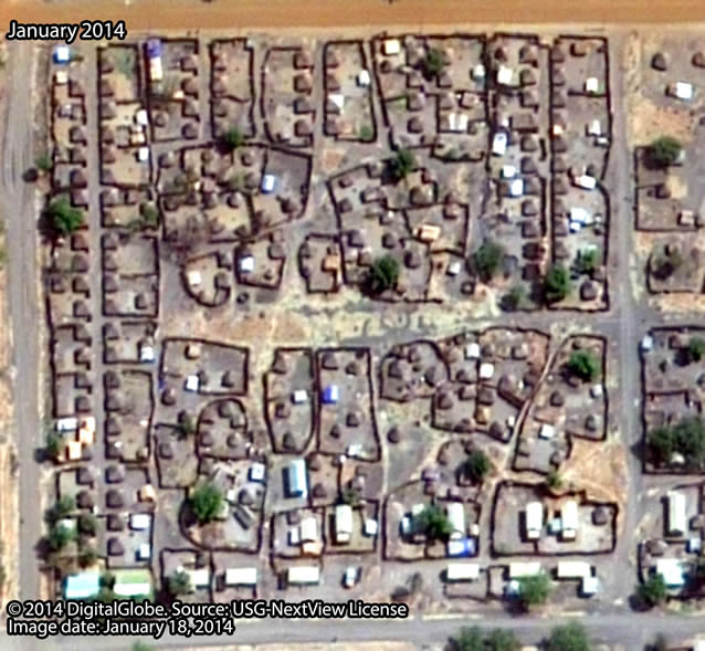 Before: Neighborhood close to the center of Malakal town