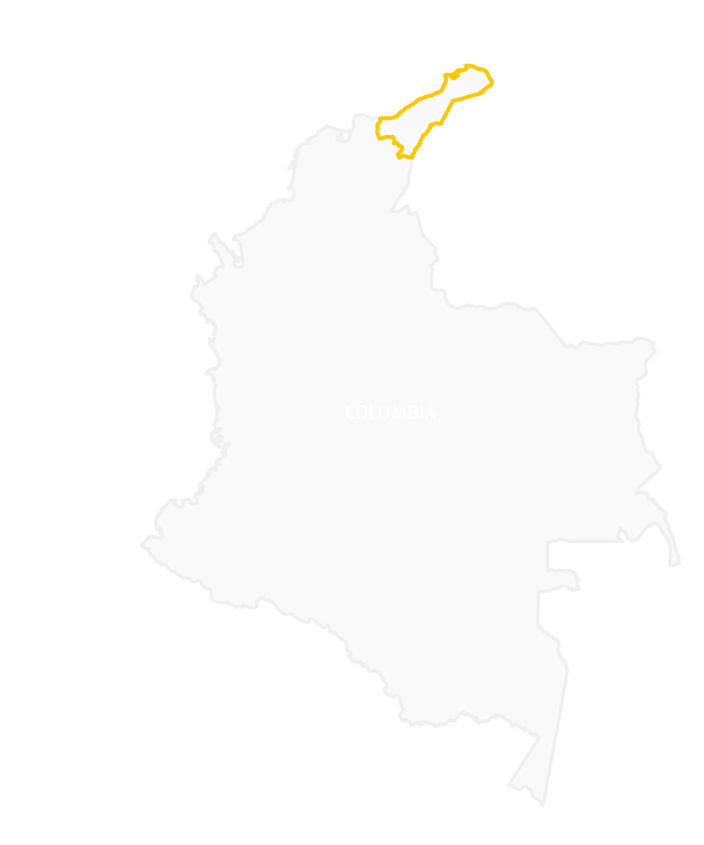 Map of La Guajira